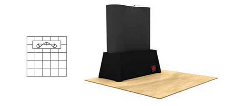 6 ft. Pop-Up Table Top Fabric Display Package | POP22D