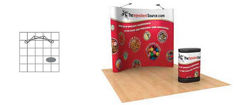 8 ft. Pop-Up Graphic Display Package | POP33MURAL