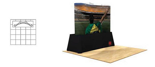 8 ft. Pop-Up Table Top Graphic Display Package | POP32MURAL