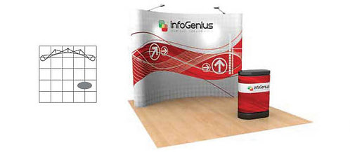 10 ft. Pop-Up Graphic Display Package | POP43MURAL