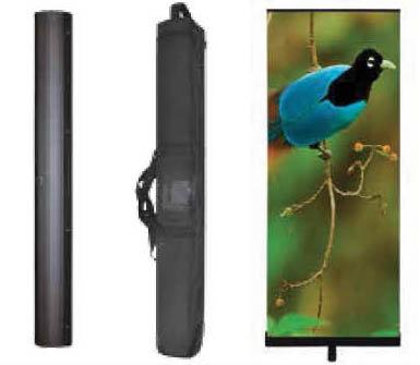 """Premium Penta Retractable Banner Stand 33.5"""" Fabric or Vinyl Graphic"""