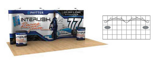20 ft. Gullwing Pop-Up Graphic Display Package | POP83GULL-MURAL