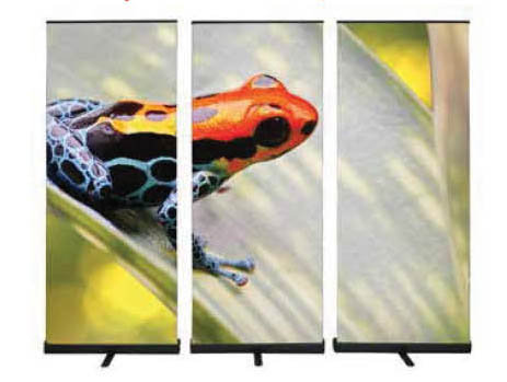 Premium Retractable Banner Stand Wall with Vinyl or Fabric Graphic