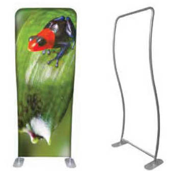 """Wave Tube """"Flex"""" Graphic Stand - Single-Sided 