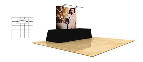 6 ft. Wave Tube Table Top Display - Single-Sided | WT6C1