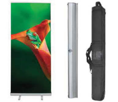 "Economy Retractable Banner Stand 24"", 31.5"", 33.5"", 36"