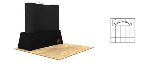 8 ft. Pop-Up Table Top Fabric Display Package | POP32D