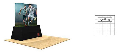 6 ft. Pop-Up Table Top Graphic Display Package | POP22MURAL