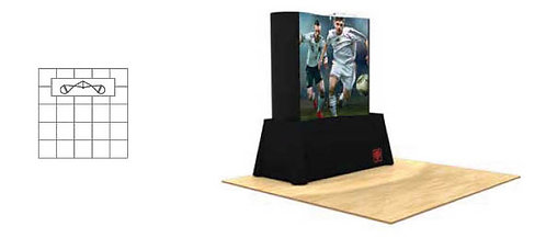 6 ft. Pop-Up Table Top Graphic Display Package - with Fabric Ends | POP22MURAL-F