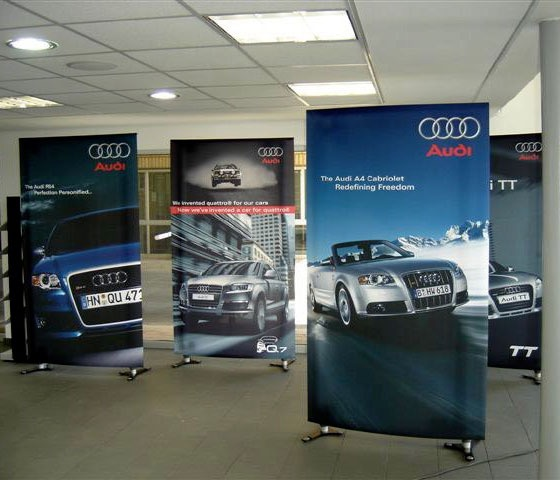 Instore textile banners