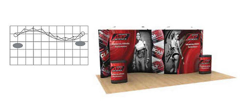 20 ft. Serpentine Pop-Up Graphic Display Package | POP83SERP-MURAL