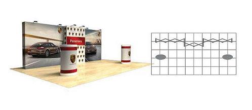 20 ft. Star Fabric Straight Display Kit | SFWKIT-3