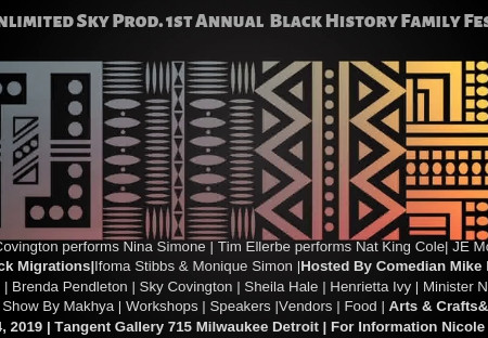Tangent Gallery, Hug Detroit Day & Unlimited Sky Production Proudly Presents The First Annual Black