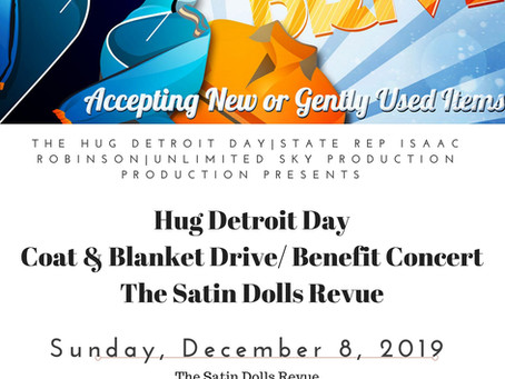 8th Annual Hug Detroit Coat & Blanket Drive & Benefit Concert at the Tangent Gallery.