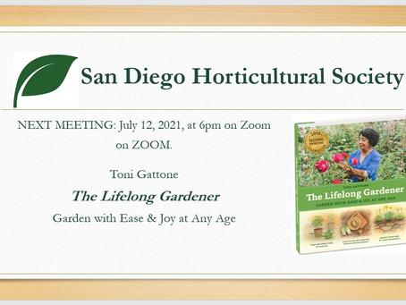 MEETING REPORT: June 2021, With Toni Gattone, The Lifelong Gardener