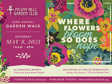 GARDEN WALK MAY 8th: Mission Hills Garden Club