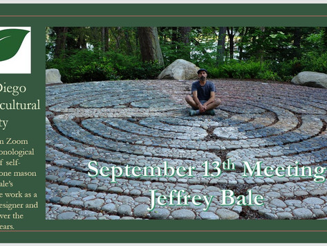 SEPTEMBER MEETING REPORT: Jeffrey Bale - Rock Star!
