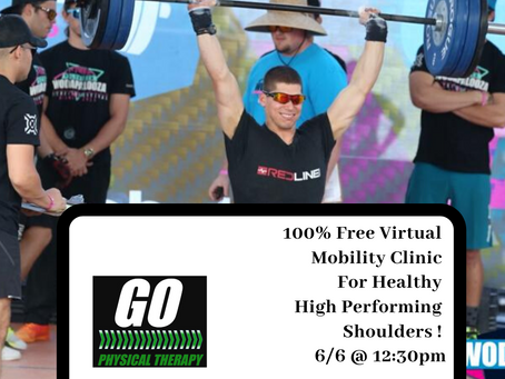 Upcoming Clinic This Saturday! Fix your Shoulders and Perform better!