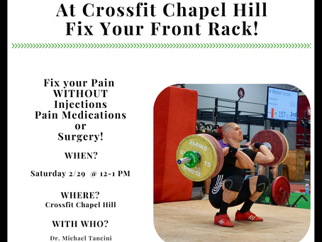 Front Rack Clinic this Weekend!