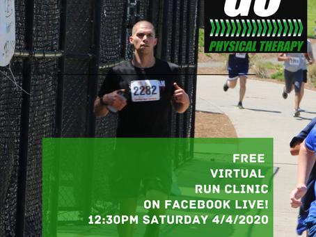 FREE Virtual Run Clinic TODAY!