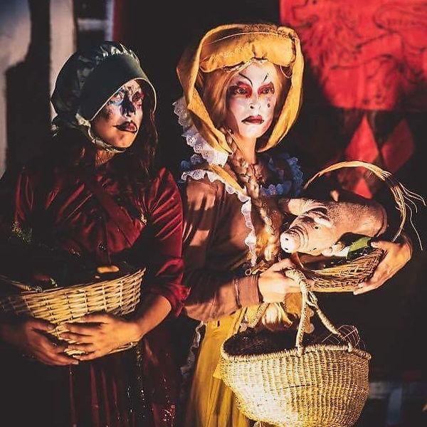 Fru Inger til Østraat, the servants The