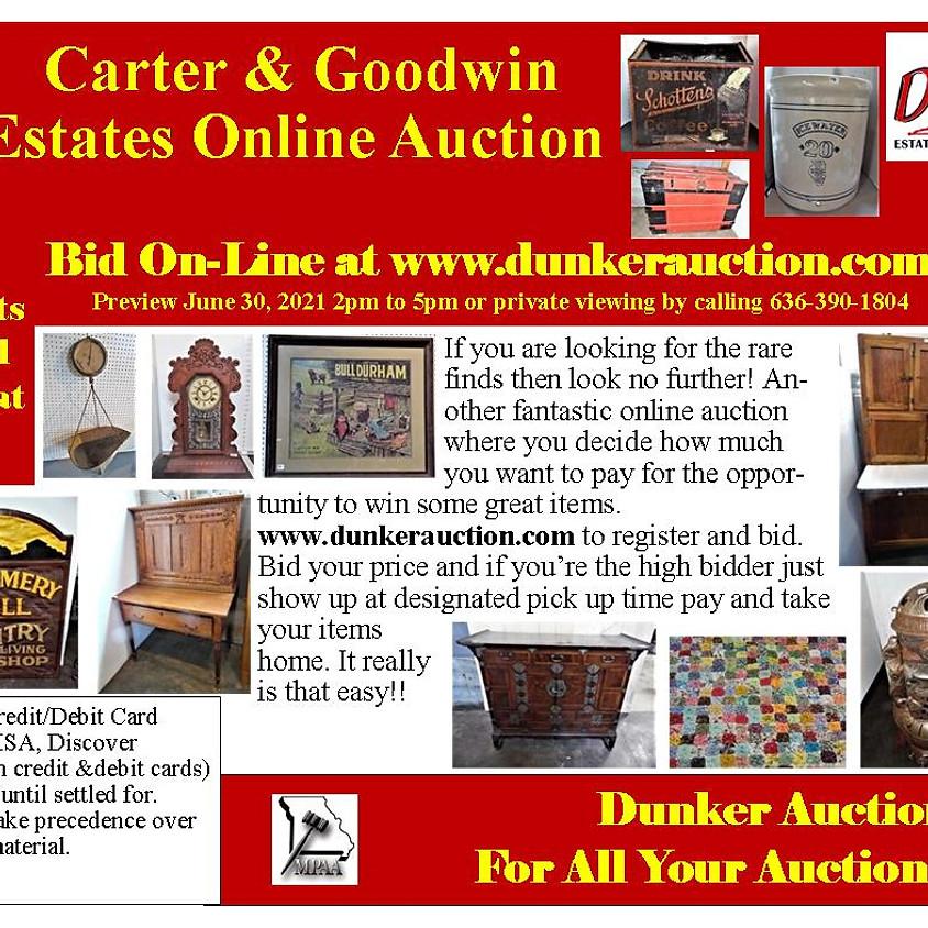 Carter & Goodwin Estates Online Auction