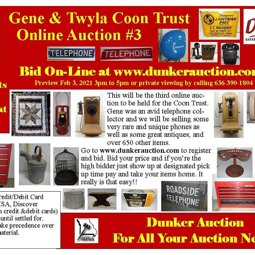 Gene & Twyla Coon Trust Online Auction #3