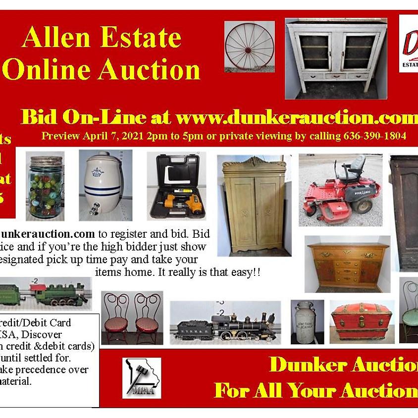 Allen Estate Online Auction