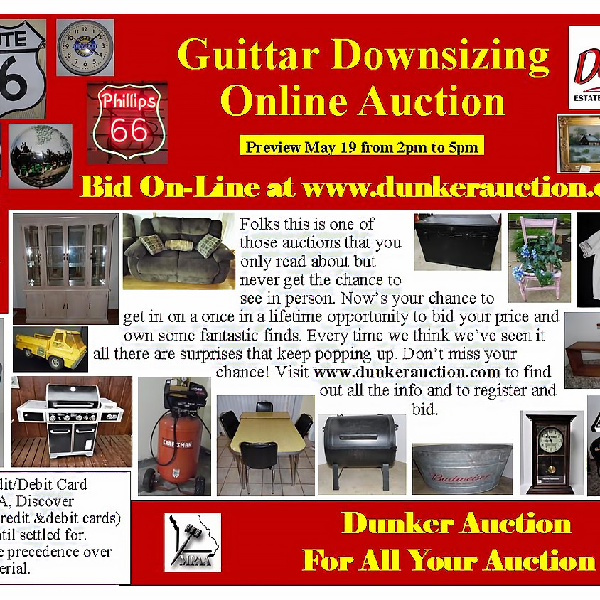 Guittar Downsizing Online Auction
