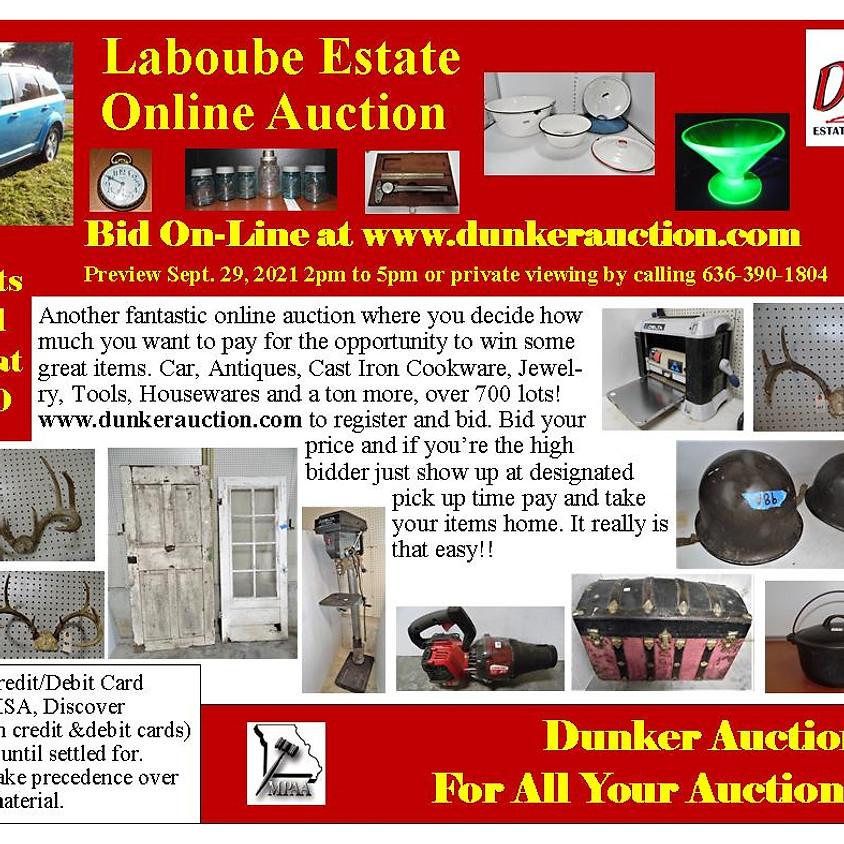 Laboube Estate Online Auction Coming Soon