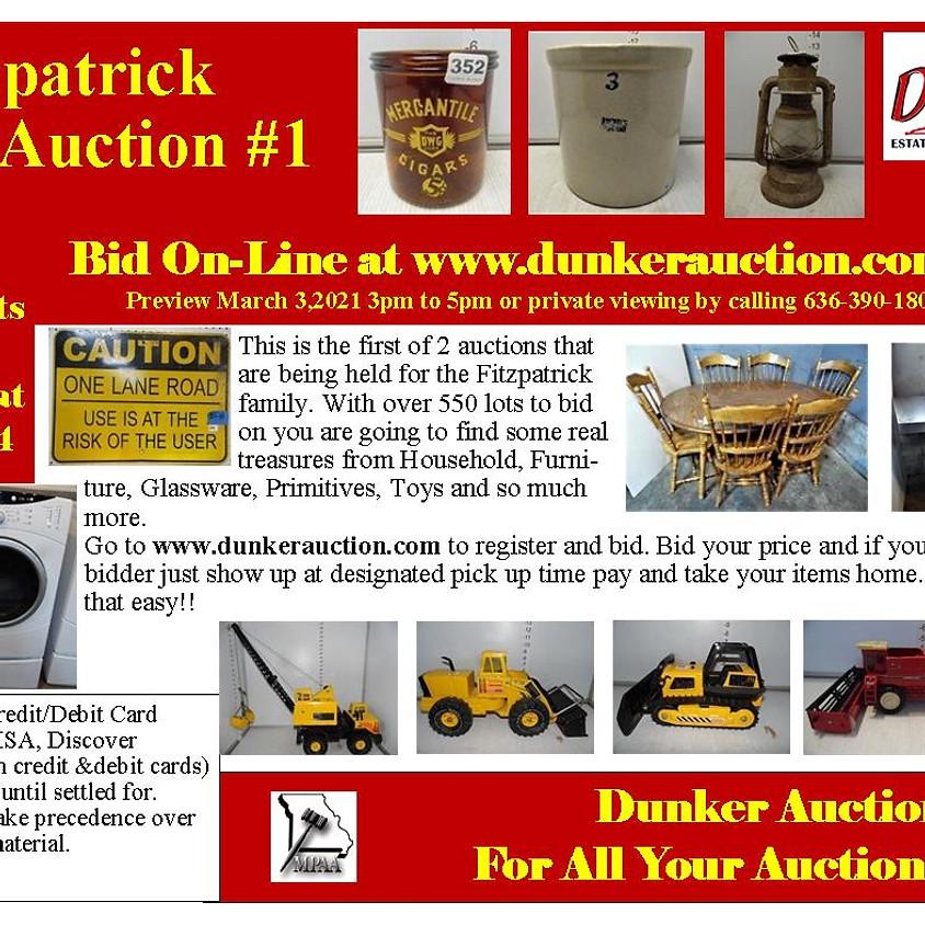 Fitzpatrick #1 Online Auction
