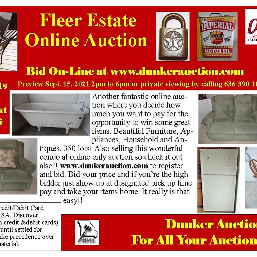 Fleer Estate Online Auction Coming Soon