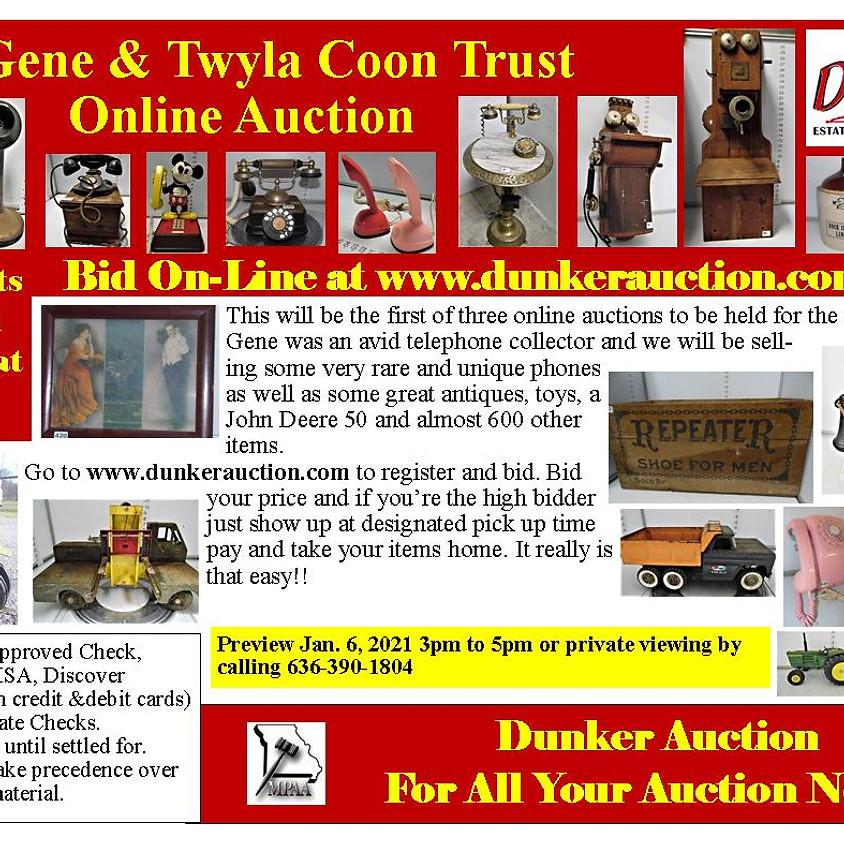 Gene & Twyla Coon Trust Online Auction