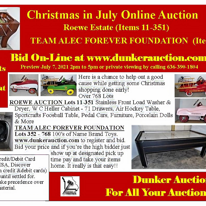 Christmas in July Online Auction