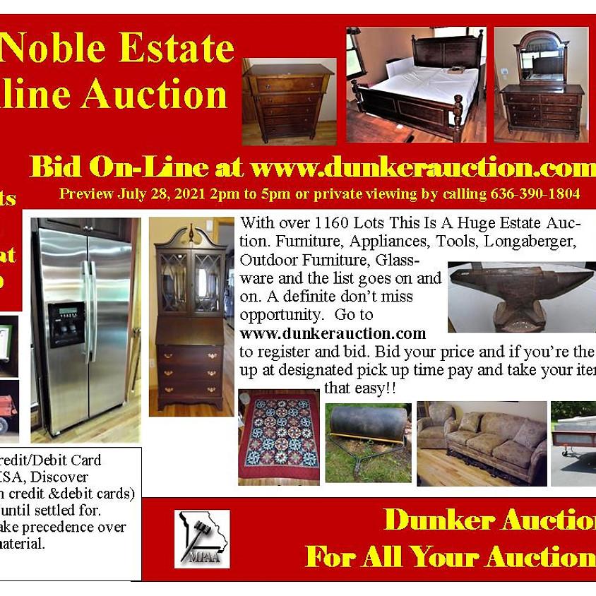 Curtis Noble Estate Online Auction