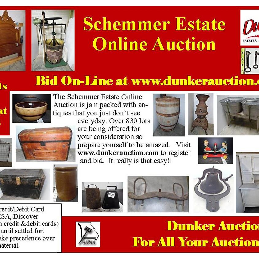 Schemmer Estate Online Auction