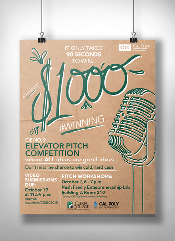 Elevator Pitch Poster
