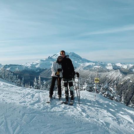 skiing w bae