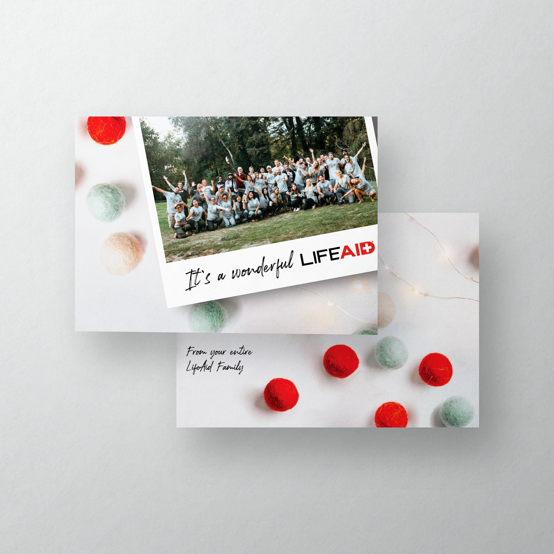 lifeaid holiday card