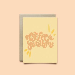 Coffee & Sunshine - Greeting Card