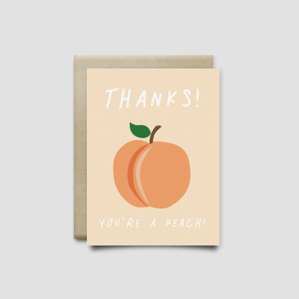Just Peachy - Greeting Card