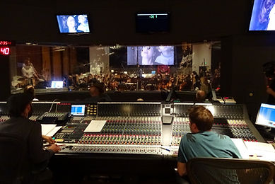 Studio recordig Once Upon A Time wih orchestrator August Eriksmoen