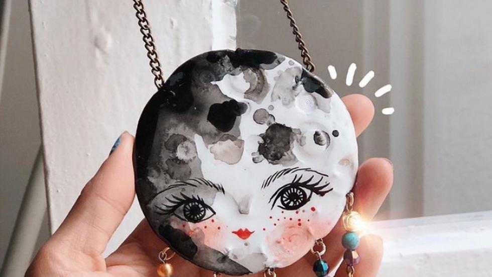 Luna llena en Piscis (decoración)
