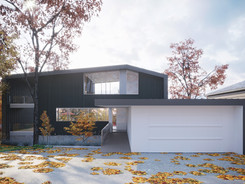 Außenvisualisierung Familienhaus mit Garage in Bremen
