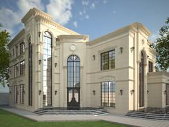 Außenvisualisierung Villa Abu Dhabi
