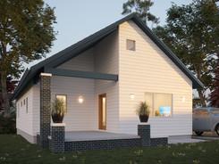 Visualisierung Außenvisualisierung Einfamilienhaus Bremen