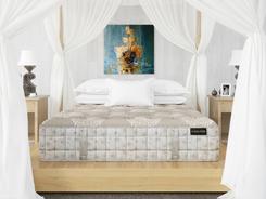 Innenraumvisualisierung Schlafzimmer / Bett