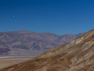 Morning Moon - Death Valley