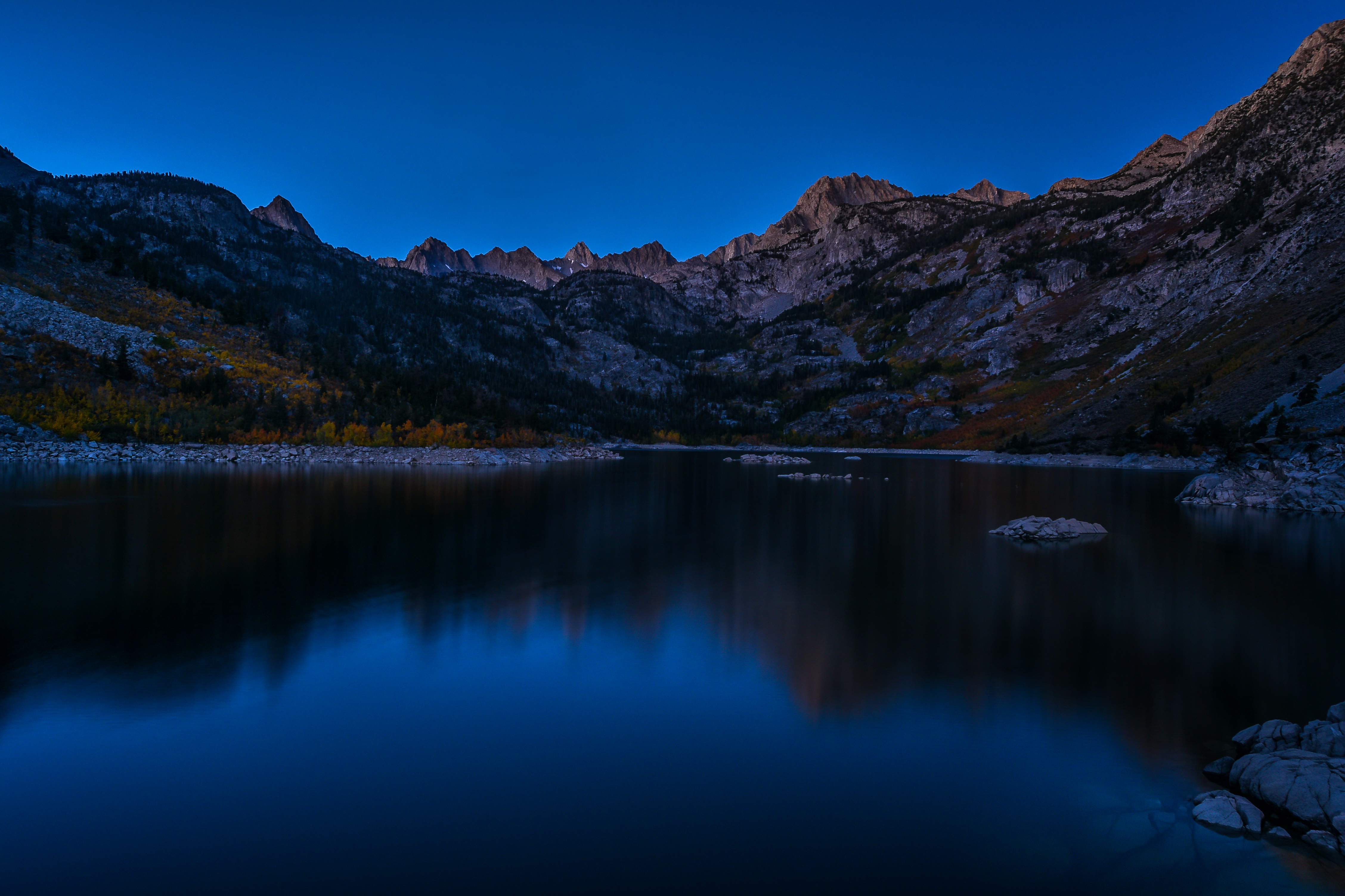 Fall Colors - Lake Sabrina - First Light 2