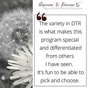 (25) variety in DTR makes program specia